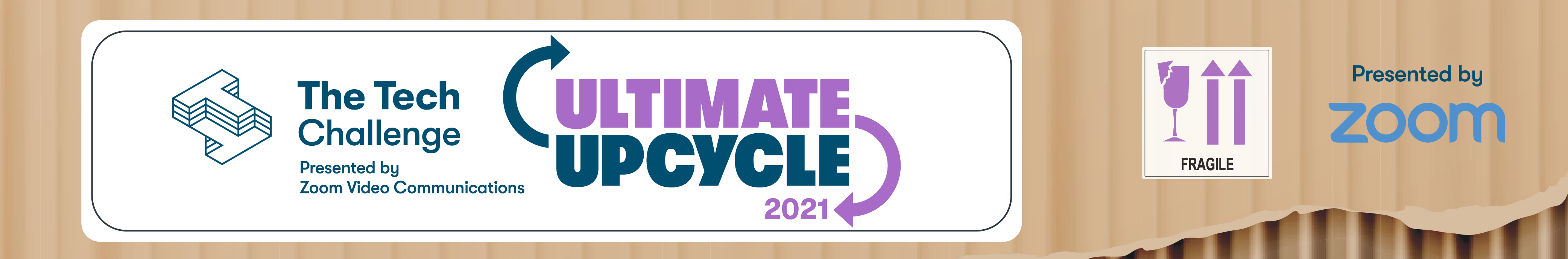 A banner image for The Tech Challenge, Ultimate Upcycle program.